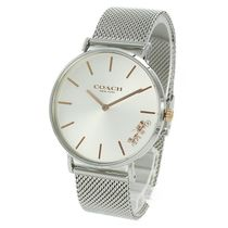 Coach Casual Style Unisex Round Quartz Watches Stainless