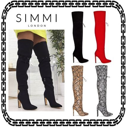 Casual Style Street Style Other Animal Patterns Pin Heels