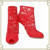 Dolce & Gabbana Open Toe Elegant Style Ankle & Booties Boots