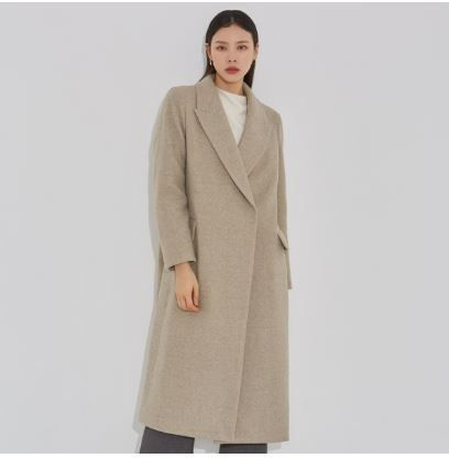 Casual Style Plain Oversized Wrap Coats