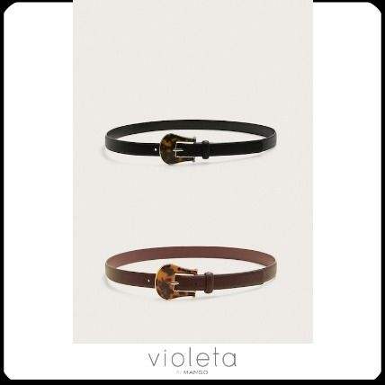 Casual Style Oversized Belts