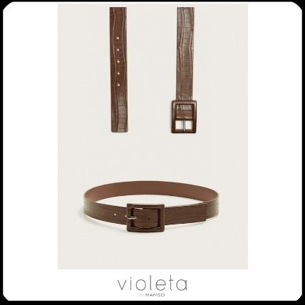 Casual Style Other Animal Patterns Oversized Belts