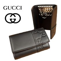 GUCCI Unisex Leather Keychains & Holders
