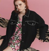 LAZY OAF Heart Star Blended Fabrics Street Style Medium Party Style
