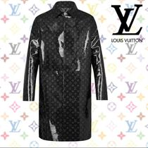 Louis Vuitton Monogram Blended Fabrics Leather Long Jackets