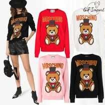 Moschino Crew Neck Casual Style Long Sleeves Other Animal Patterns