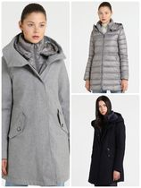 WOOLRICH Casual Style Wool Blended Fabrics Plain Medium Coats
