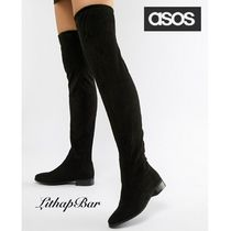 ASOS Round Toe Casual Style Plain Over-the-Knee Boots