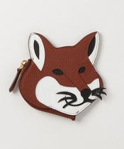 MAISON KITSUNE Unisex Other Animal Patterns Coin Cases