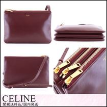 CELINE 2WAY Plain Leather Elegant Style Bold Shoulder Bags