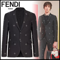 FENDI Short Plain Blazers Jackets