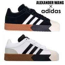 Alexander Wang Stripes Street Style Collaboration Leather Sneakers
