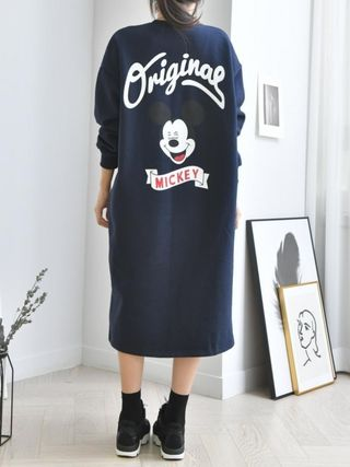 Casual Style Long Sleeves Cotton Dresses