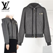 Louis Vuitton Short Casual Style Wool Blended Fabrics Plain Jackets