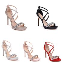 Badgley Mischka Pin Heels Party Style Heeled Sandals