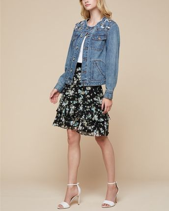 Casual Style Denim Plain Jackets