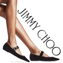 Jimmy Choo Dots Velvet Party Style With Jewels