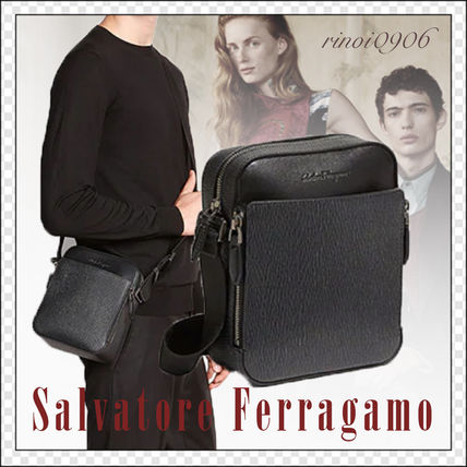 ... Salvatore Ferragamo Messenger   Shoulder Bags Street Style Plain Leather  Messenger   Shoulder ... 2ddc561940b8e