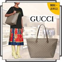 GUCCI Ophidia Monogram Casual Style Unisex Blended Fabrics A4 Leather