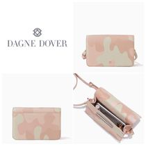 DAGNE DOVER Camouflage Leopard Patterns Casual Style Leather