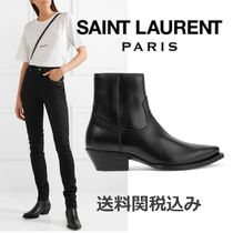 Saint Laurent Plain Leather Elegant Style Chunky Heels