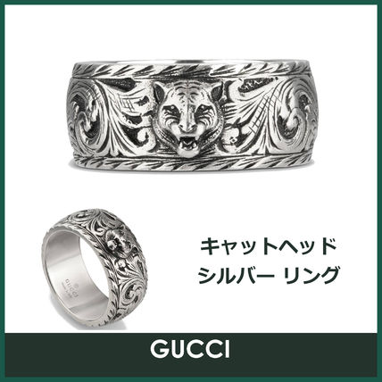 a4127482362 GUCCI Unisex Other Animal Patterns Silver Rings (433571 J8400 0811 ...