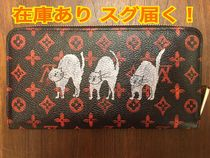 Louis Vuitton MONOGRAM Monogram Unisex Other Animal Patterns Leather Long Wallets