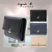 Agnes b Leather Card Holders