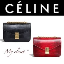 CELINE Calfskin Street Style 2WAY Chain Other Animal Patterns