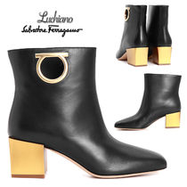 Salvatore Ferragamo Leather Ankle & Booties Boots