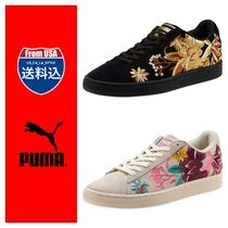 PUMA SUEDE Flower Patterns Casual Style Unisex Suede Street Style