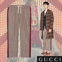 GUCCI Stripes Zigzag Wool Cropped Pants