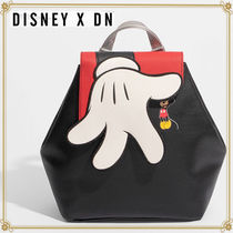 Disney Casual Style Faux Fur Collaboration Backpacks
