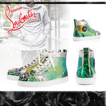 Christian Louboutin Blended Fabrics Studded Sneakers