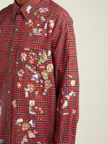 VETEMENTS Shirts Other Plaid Patterns Street Style Long Sleeves Cotton Shirts 6