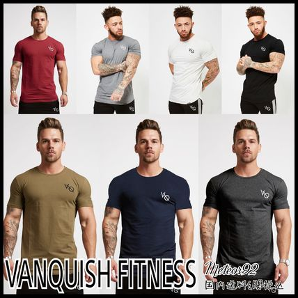 VANQUISH FITNESS More T-Shirts Street Style Plain Short Sleeves T-Shirts