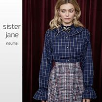 Sister Jane Other Check Patterns Long Sleeves Elegant Style