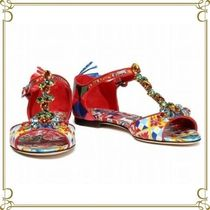 Dolce & Gabbana Open Toe Casual Style Sandals