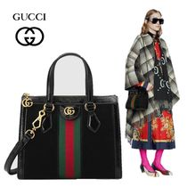 GUCCI Ophidia Suede A4 2WAY Plain Totes