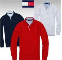 Tommy Hilfiger Button-down Long Sleeves Cotton Khaki Bold Polos