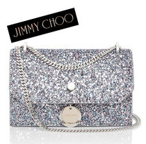 Jimmy Choo Camouflage 2WAY Chain Leather Elegant Style Shoulder Bags