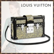 Louis Vuitton PETITE MALLE 2WAY Bi-color Leather Shoulder Bags