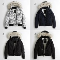 Hollister Co. Unisex Street Style Plain Down Jackets