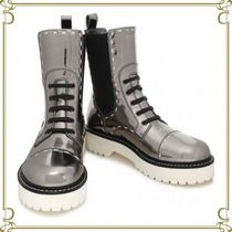 Dolce & Gabbana Casual Style Leather Ankle & Booties Boots