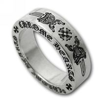 07169678493 CHROME HEARTS DAGGER Unisex Street Style Silver Rings