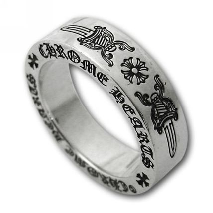 69fd332d328c CHROME HEARTS DAGGER Unisex Street Style Silver Rings by yakobourget ...