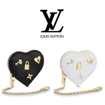 Louis Vuitton EPI Studded Chain Leather Coin Purses