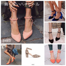 Plain Other Animal Patterns Leather Block Heels