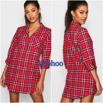 boohoo Tartan Other Check Patterns Casual Style Cropped Medium
