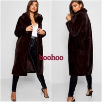 boohoo Fur Long Cashmere & Fur Coats